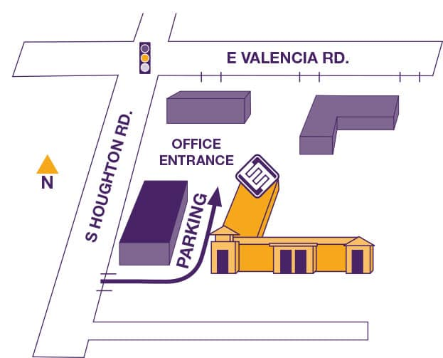 entrance map to southern arizona endodontics at valencia and houghton